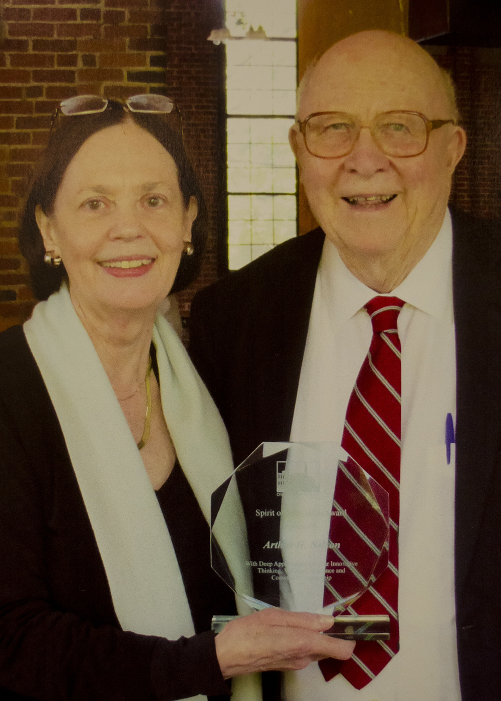 Arthur H. Nelson, pictured here with Marcia M. Folsom, President of our Board of Trustees on the day Mr. Nelson was presented with the Museum's inaugural Spirit of Innovation Award in June 2014.