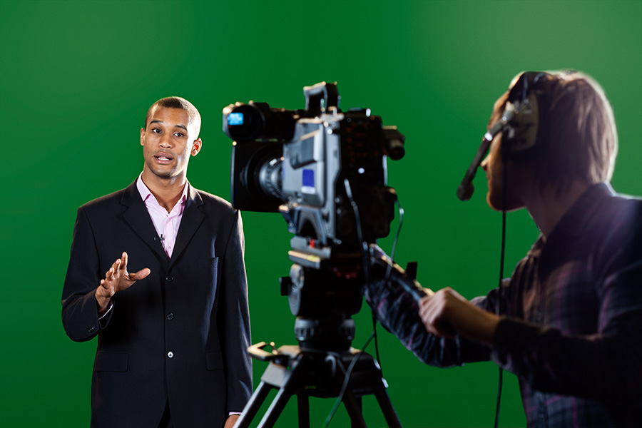 Television news broadcasts use green screen technology constantly.