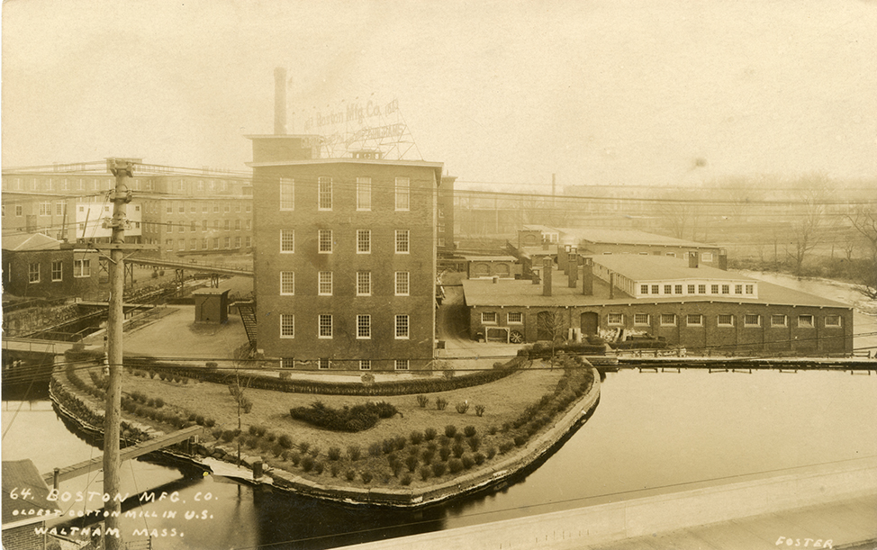 """64. Boston Mfg. Co,, Oldest Cotton Mill in U.S., Waltham, Mass""  Real Photo Postcard by Foster of Waltham."