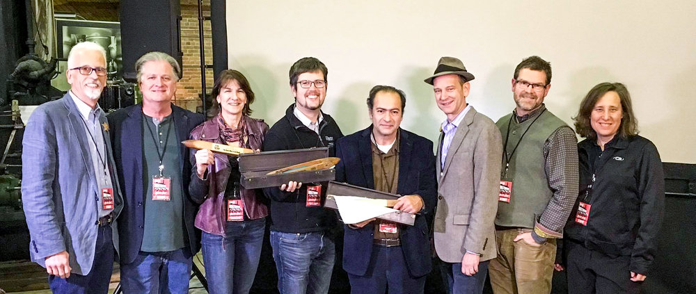 l-r: Gary Morrison (WFF), Michael Bavaro (WFF),  Cathleen O'Connell , filmmaker,  The Best Way Is By HanD,   Patrick Johnson , filmmaker,  The SChool of Honk ,  RAOUF ZAKI,  FILMMAKER,  FIREFLIES,  Liam O'Malley (WFF), Bob Perry (WFF), Emily SInger (WFF). not pictured:  Anastasia Dyakova,  filmmaker,  Ready For a Baby