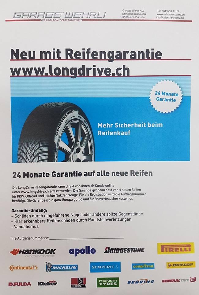 Reifengarantie bei Garage Wehrli Schaffhausen