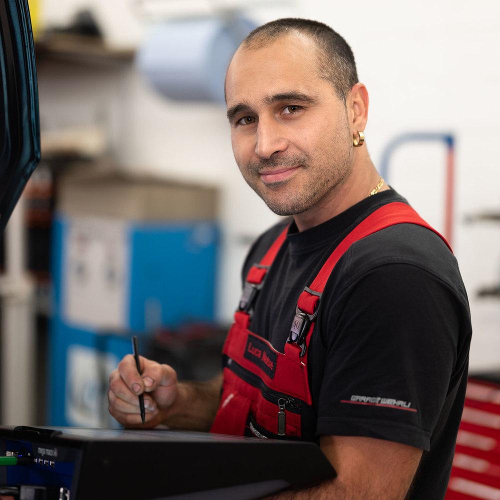 Luca Mautone, Automechaniker