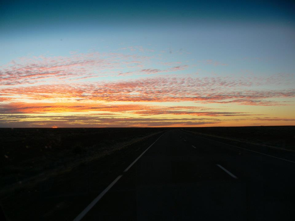 Arriving at sunset Coober Pedy