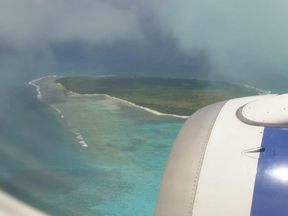 Arriving at Cocos Keeling Islands