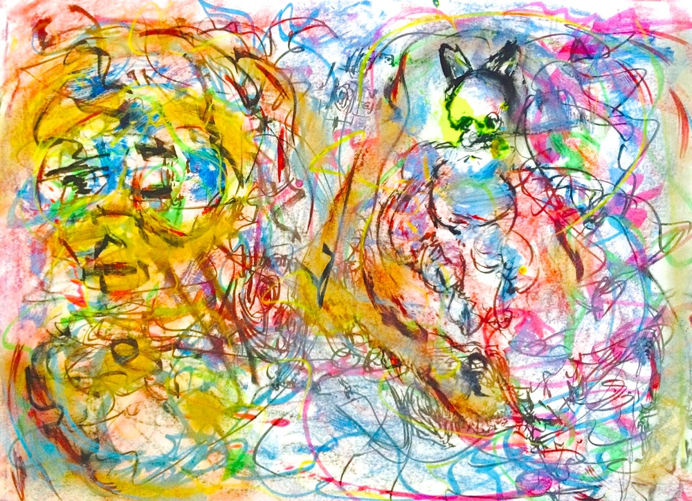 Easy Dreams  , 2015 Mixed media on paper, 23.5 x 16.5 inches