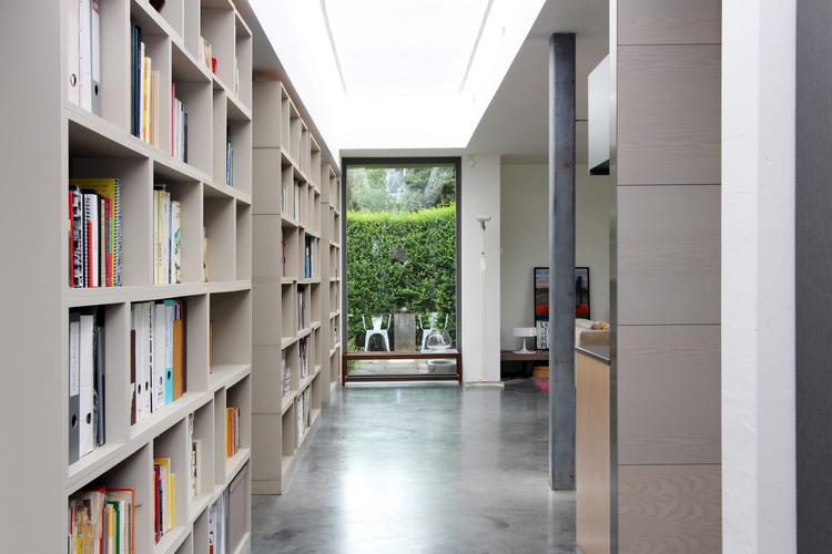 a ten meters long book shelfe system