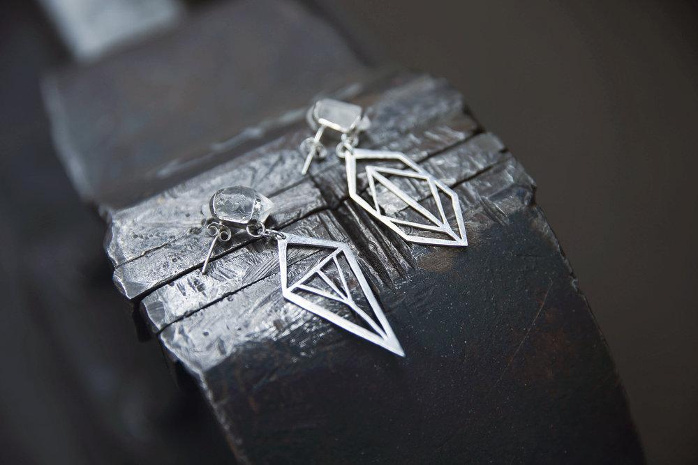 Asymmetrical Pendant Earrings