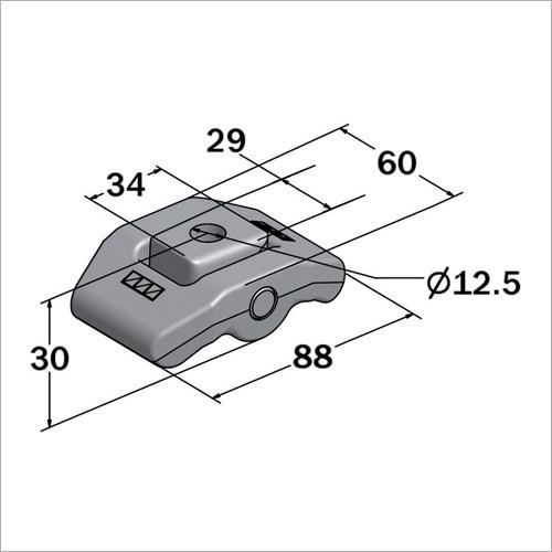 110010 - Drehbefestigungs-böckchen 88*60 mm