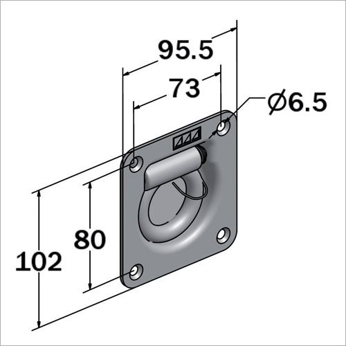 111700 - Zurrmulde, Einbau Stahl verzinkt