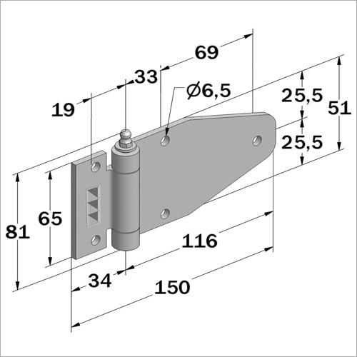 114035 - Scharnier mit Schmiernippel