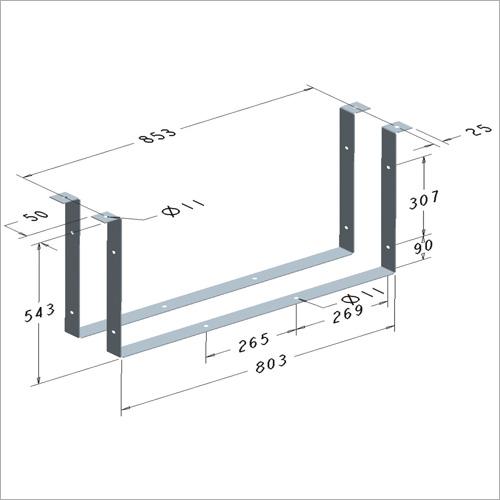 209382 -Satz Haltebügel in Stahl feuerverzinkt für Werkzeugkasten