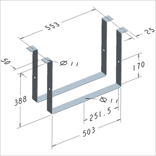 209452 -Satz Haltebügel für Werkzeugkasten