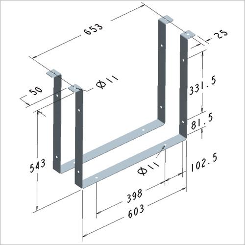 209462 -Satz Haltebügel in Stahl feuerverzinkt für Werkzeugkasten