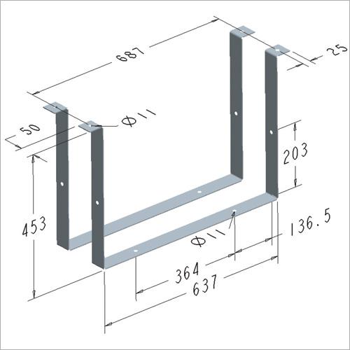 209472 -Satz Haltebügel für Werkzeugkasten 209468
