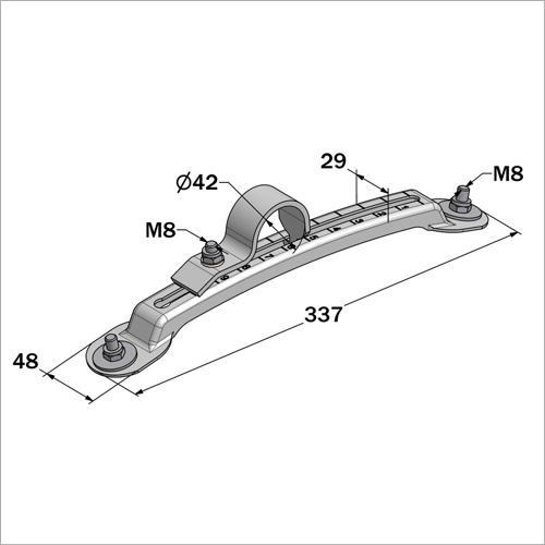 230006 -Kotflügelhalter, verstellbar, Blech gepresst 335*48/29mm