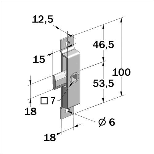 29233 -Zungenschloß, Stahl rostfrei