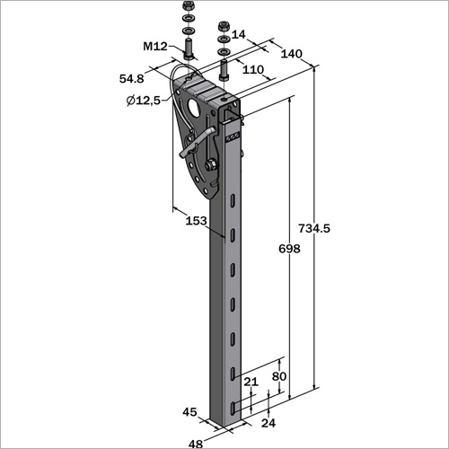 61030 -Halterung SSV 735 mm NEU