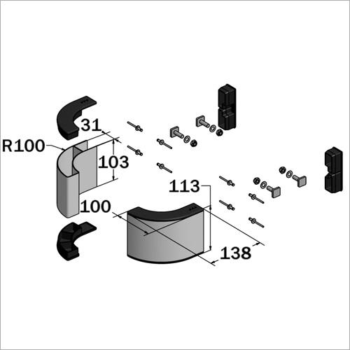 61271 -Bausatz für Einzelseitenschutz