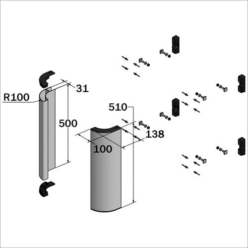 61272 -Bausatz für Doppelseitenschutz