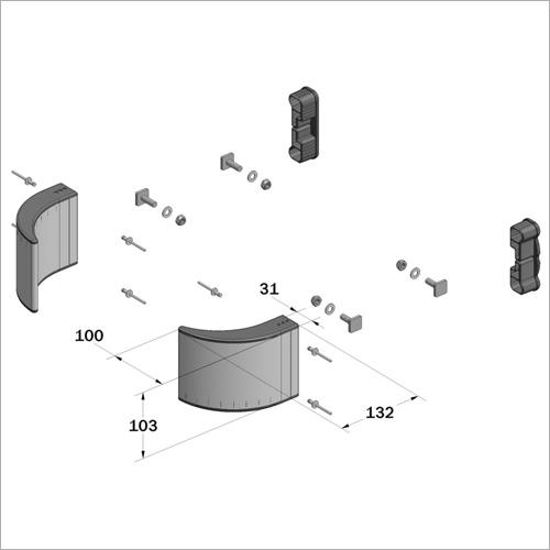 61471 -Bausatz für Einzelseitenschutz