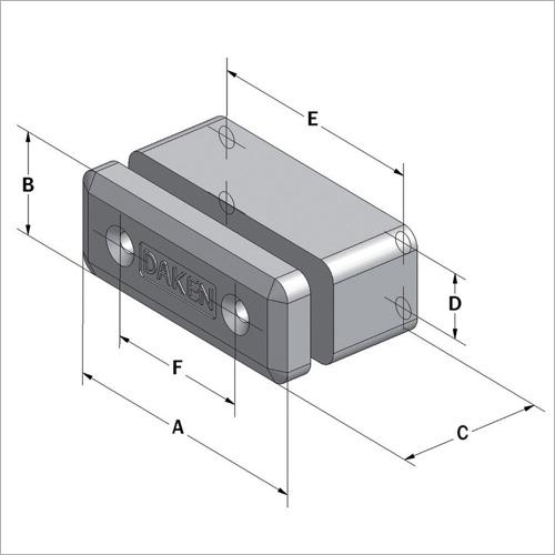 204900 -Feder-Rammpuffer 160*60 mm