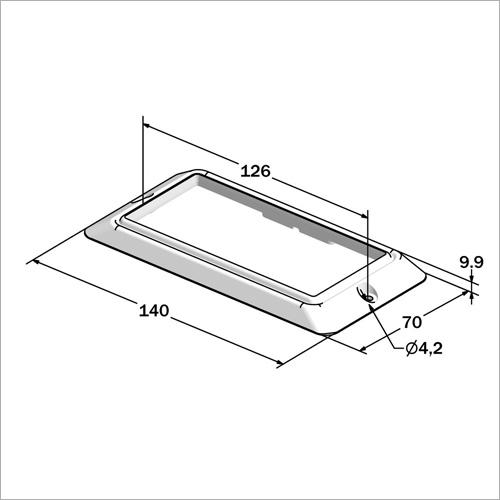 540402 -Deckenleuchte rechteckig 12 LED
