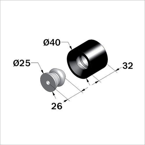 53500 -Türfeststeller und Schnapper, Nylon