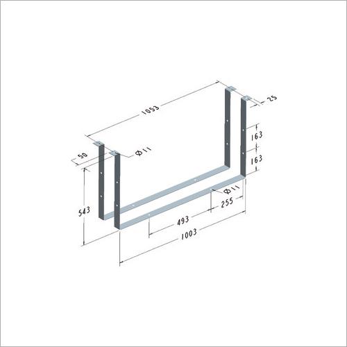 209402 -Satz Haltebügel in Stahl feuerverzinkt für Werkzeugkasten