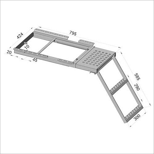 114550 - Ausziehbare Leiter, Podest +2 Stufen