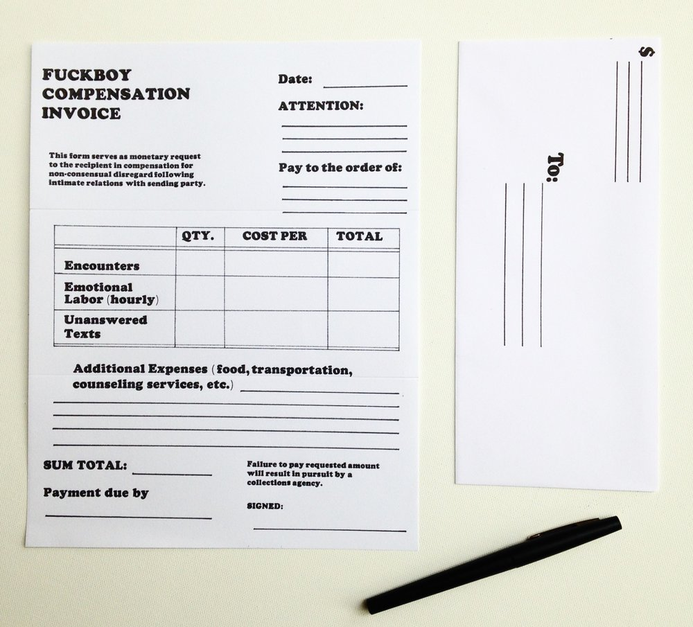 Fuckboy Invoice