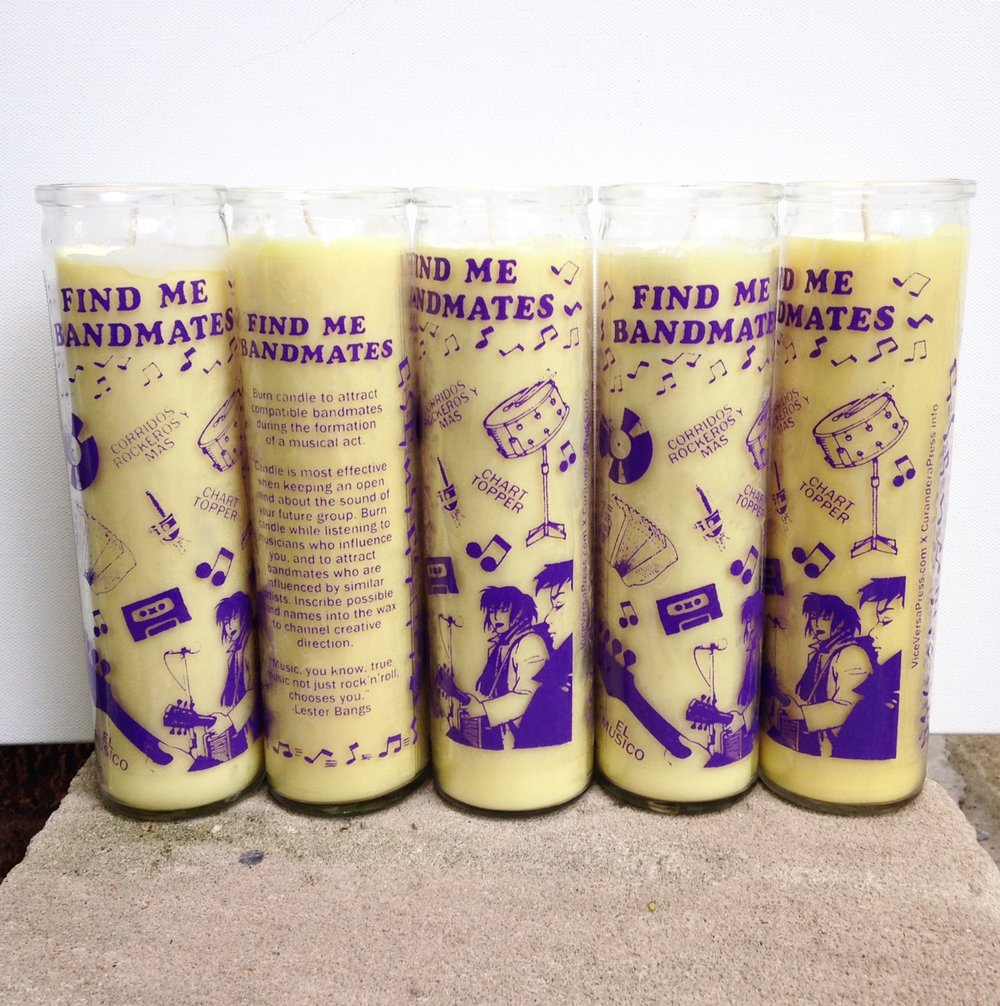 Find Me Bandmates Prayer Candle Julia Arredondo Art Curandera Press