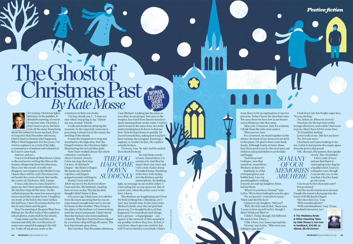 Illustration for Woman Magazine's Christmas story