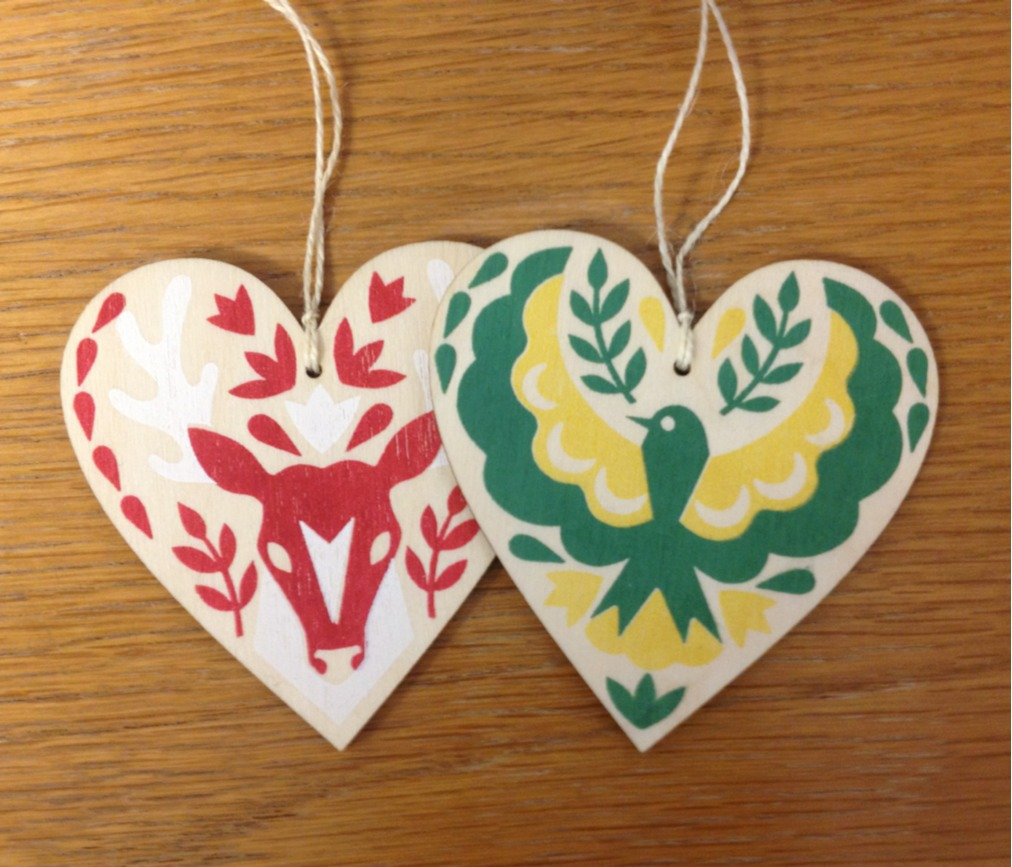 I'm selling these screen printed hearts at The Print Shop  http://printshopbristol.blogspot.co.uk/2013/11/its-party-time.html?m=1..  Opening night tomorrow from 5pm!