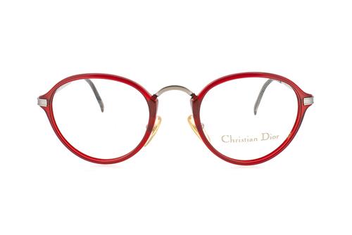 Christian Dior 2899 Red Optical Frame — Ed & Sarna Vintage Eyewear