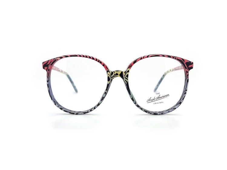 Anglo American Eyewear 132 Vintage Glasses Frame with Demo Lens — Ed ...