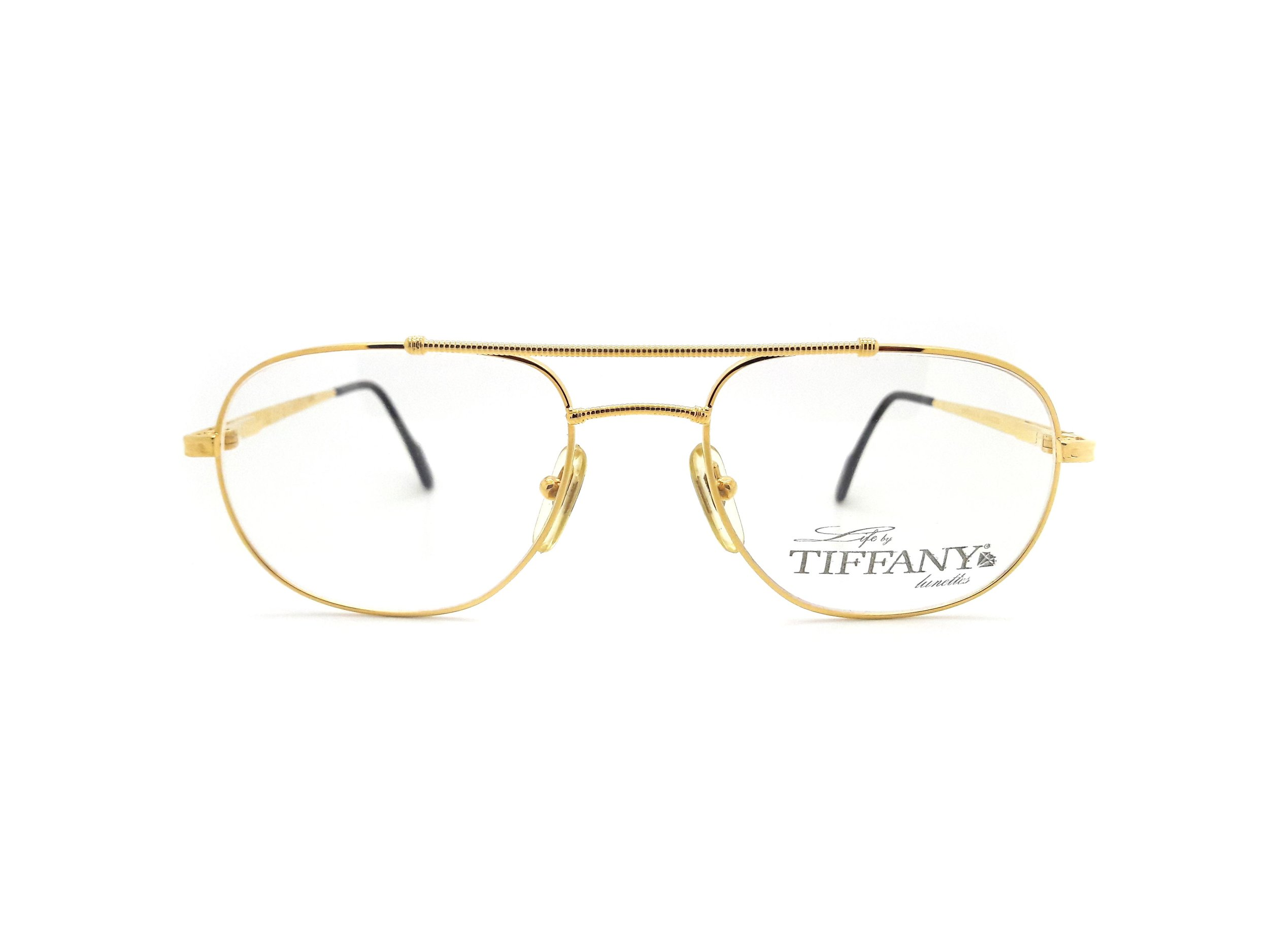 Life by Tiffany Lunettes T384 23K Gold Plated Vintage Aviator ...