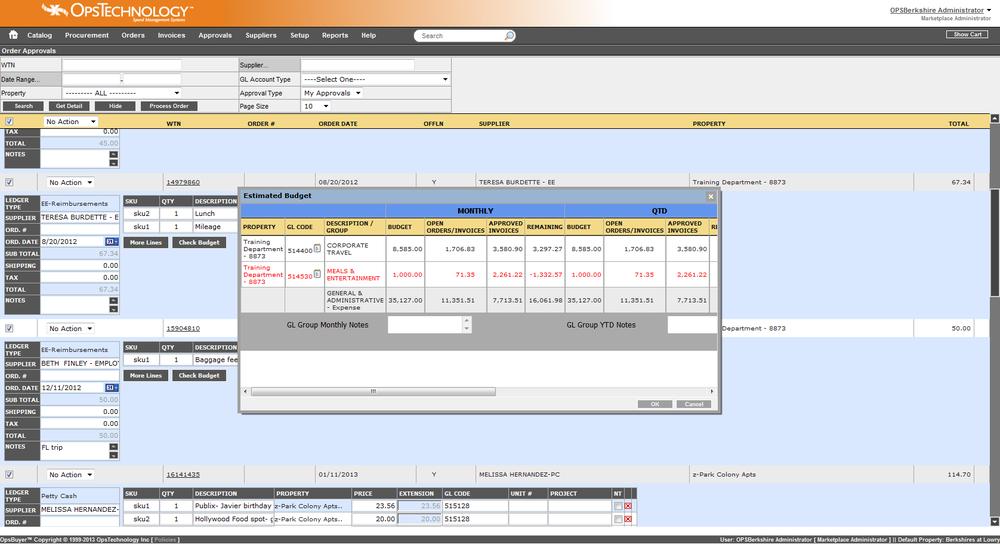Desktop version of OpsBuyer