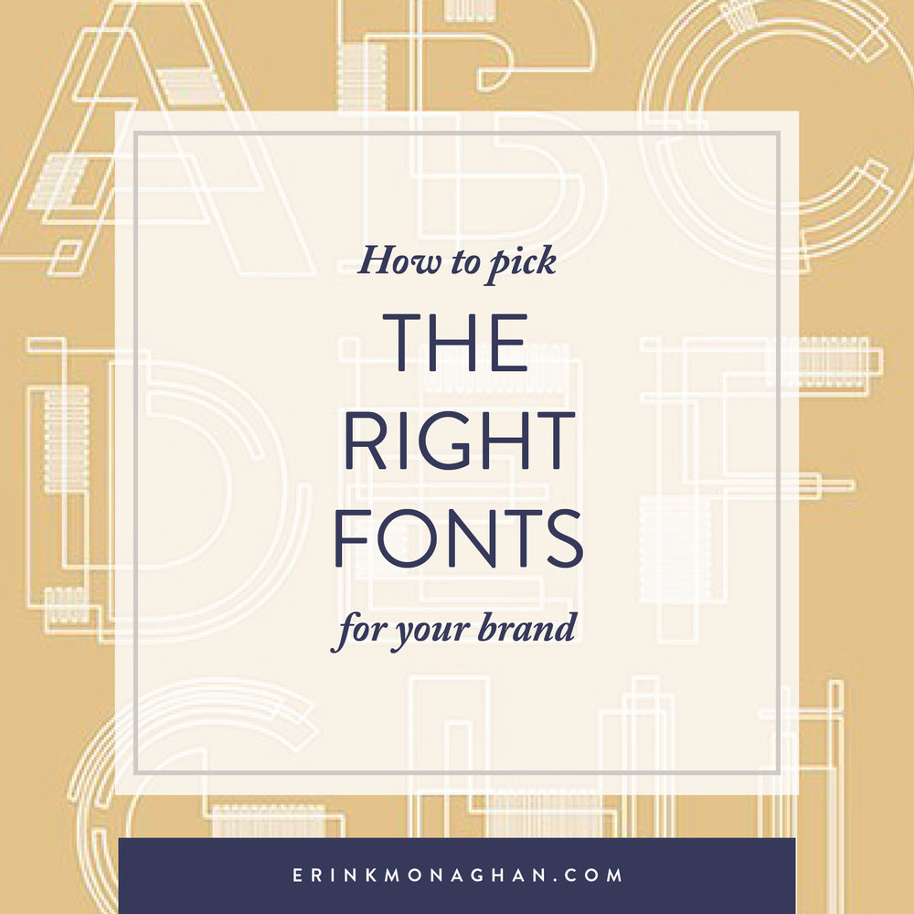 Choosing the right fonts