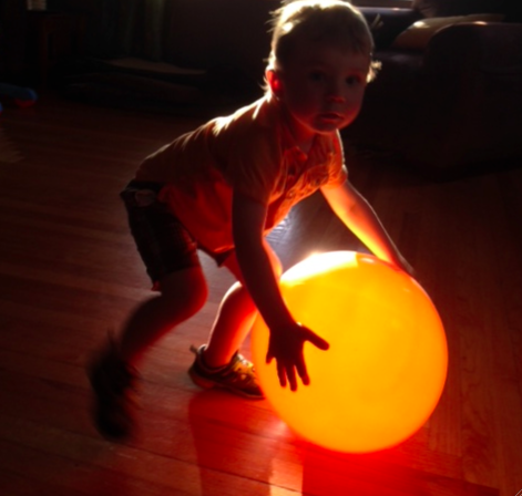 Finn with glowing ball