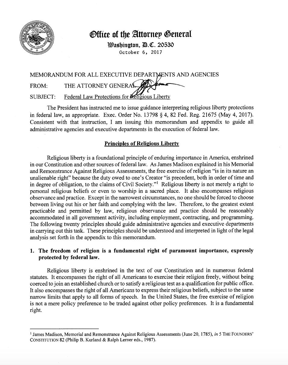 Memorandum For All Executive Departments And Agencies -
