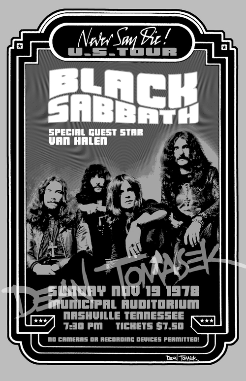 Black And White Concert Posters