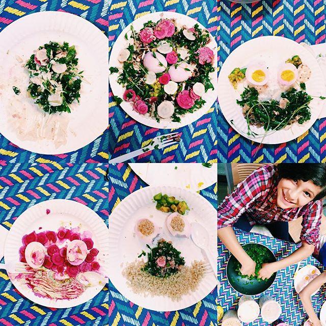 DAY 1 | Our chef-friend & teacher @clarib2 helped us create artful quinoa bowls for lunch. 🌿 #mindfulartsxnyc #mindfularts #healthyschoolunch #foodisart #makefriendseatfriends