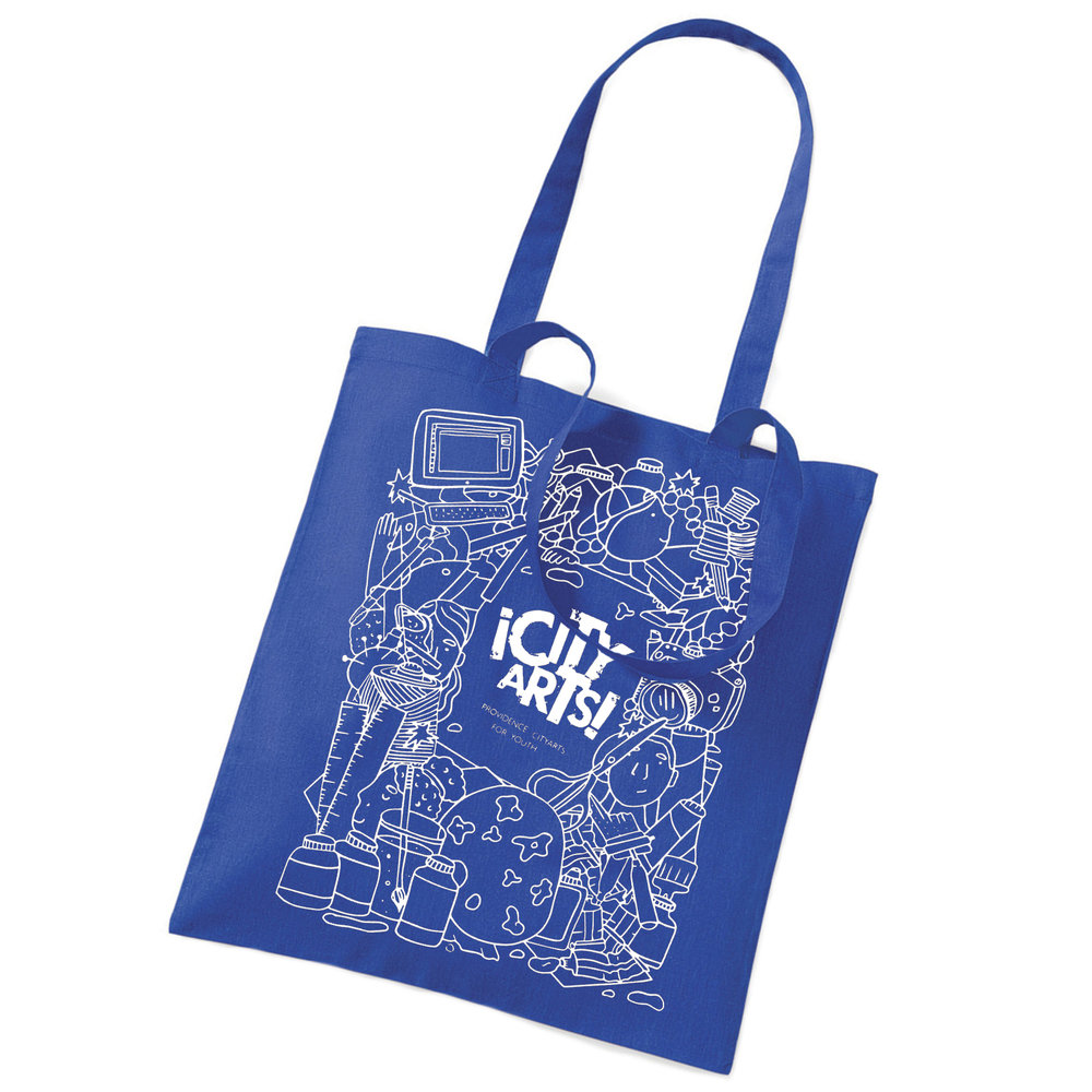 Providence ¡CityArts! for Youth Blue Tote