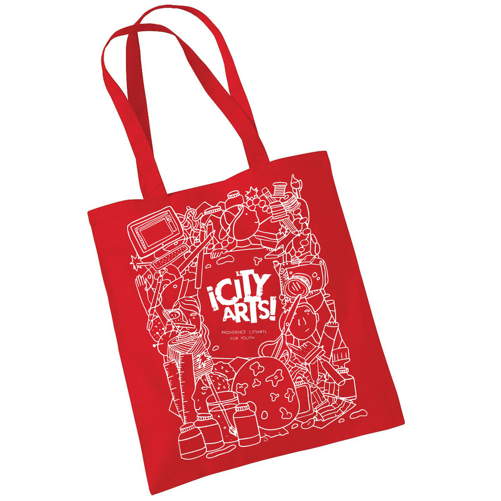 Providence ¡CityArts! for Youth Red Tote