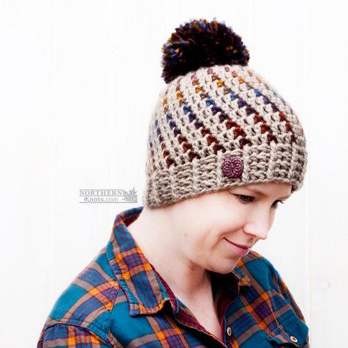Northern Lights Beanie Adult Sizes Crochet Pattern Northern Knots