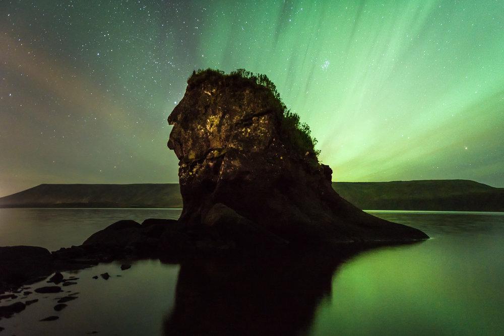 The Indian Head Kleifarvatn Lake, Iceland