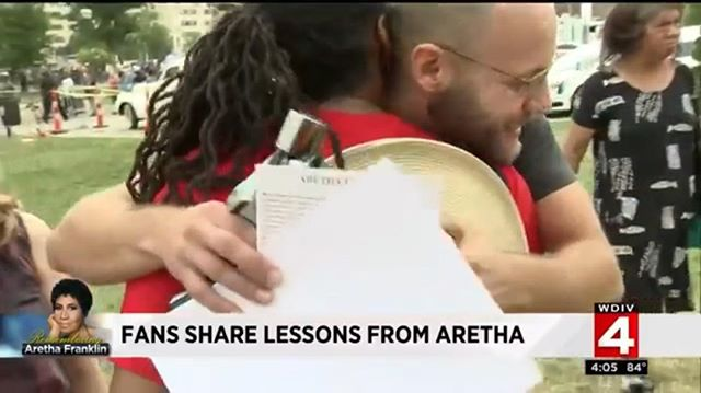 Still taking in Aretha spirit. Even on the news ;) today will be quite a send off https://youtu.be/_iVXpLMqR8Y