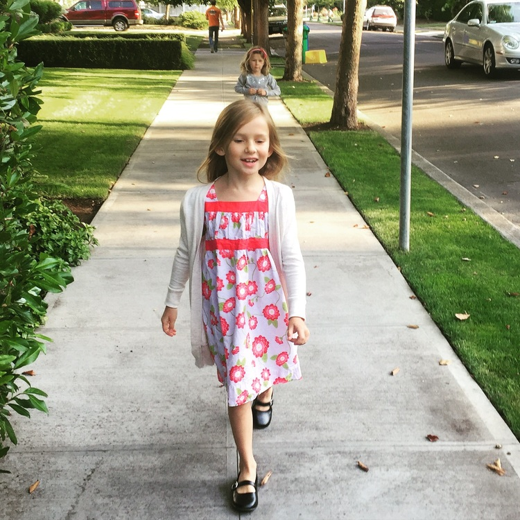 nora in poppy dress