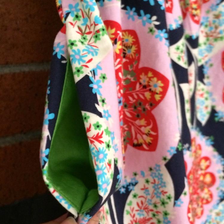 beatles dress contrasting pocket