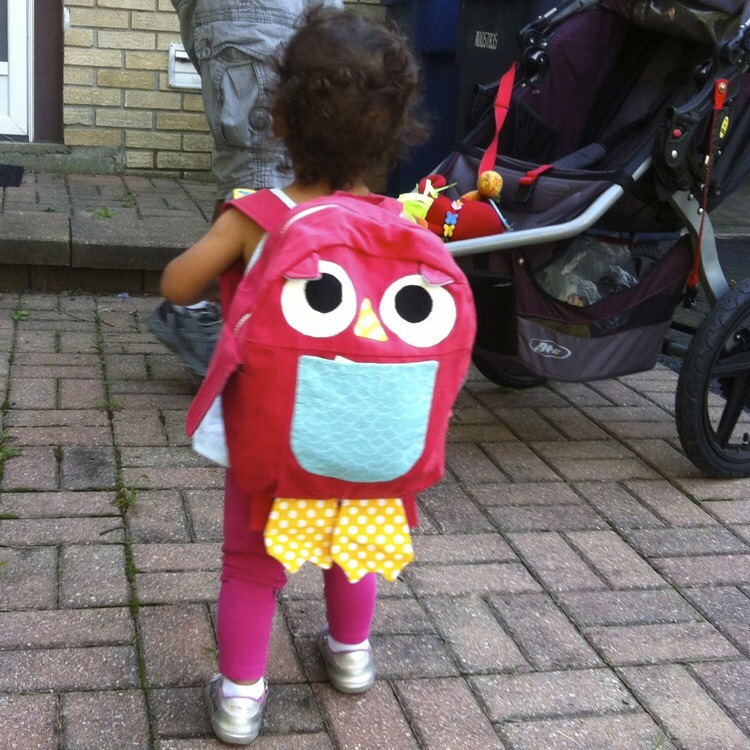 love aunt maggie | owl backpack
